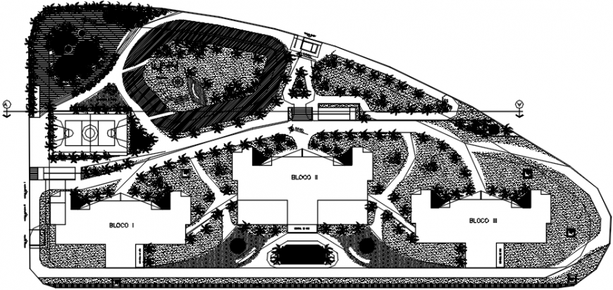 Landscaping top view plan details