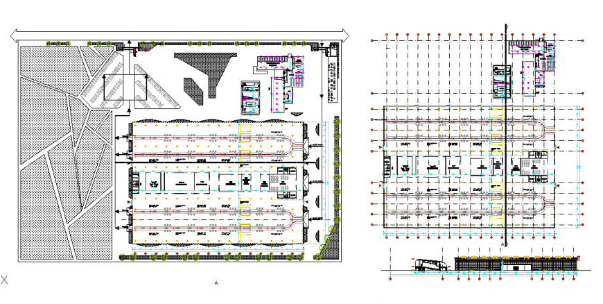 Largest Car Parking Lay-out detail in DWG file