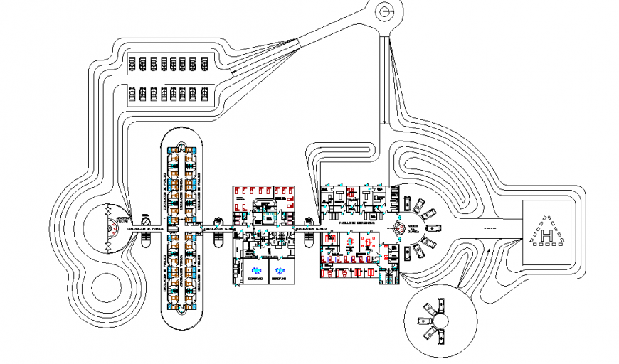 Largest General Hospital Plan Lay-out Design Project