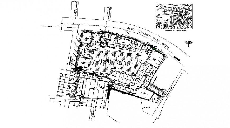 Las Palmas commercial Centre plan in auto cad