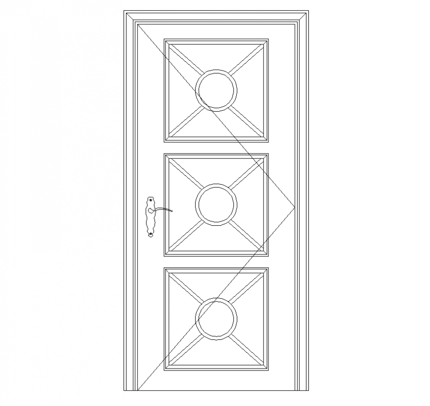 Lattice round door CAD blocks elevation autocad file
