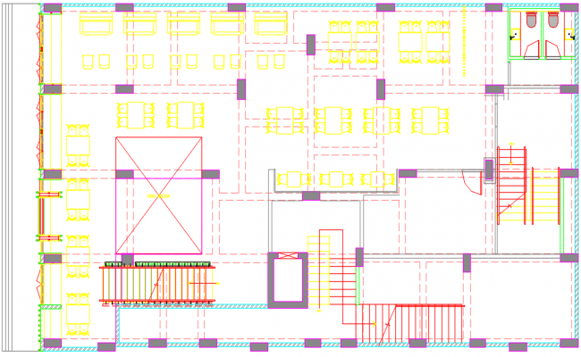 layout plan of a restaurant dwg file