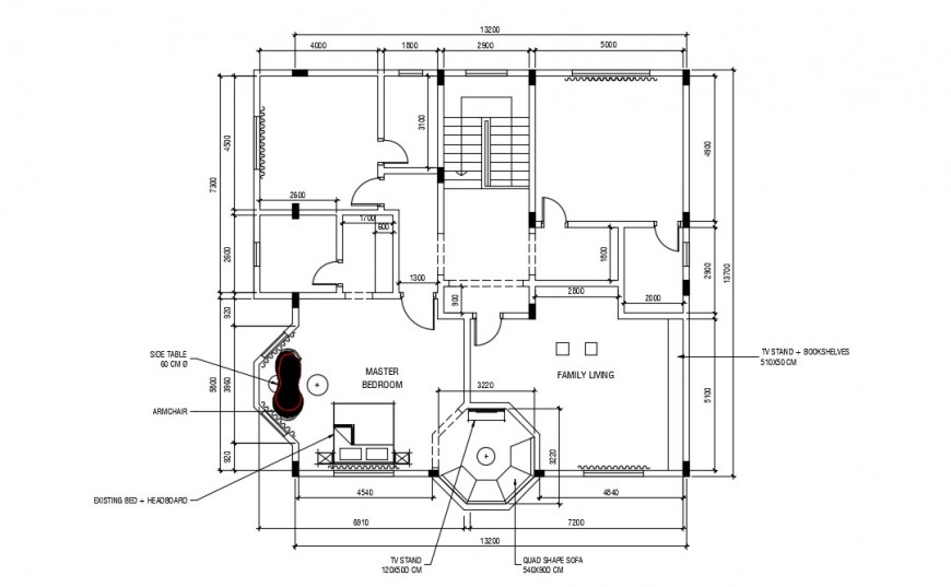 Layout CAD drawings of house autocad software file