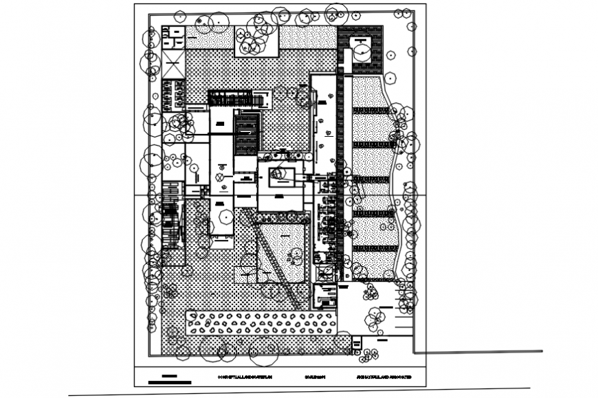 Layout CAD drawings of housing apartment 2d view dwg file