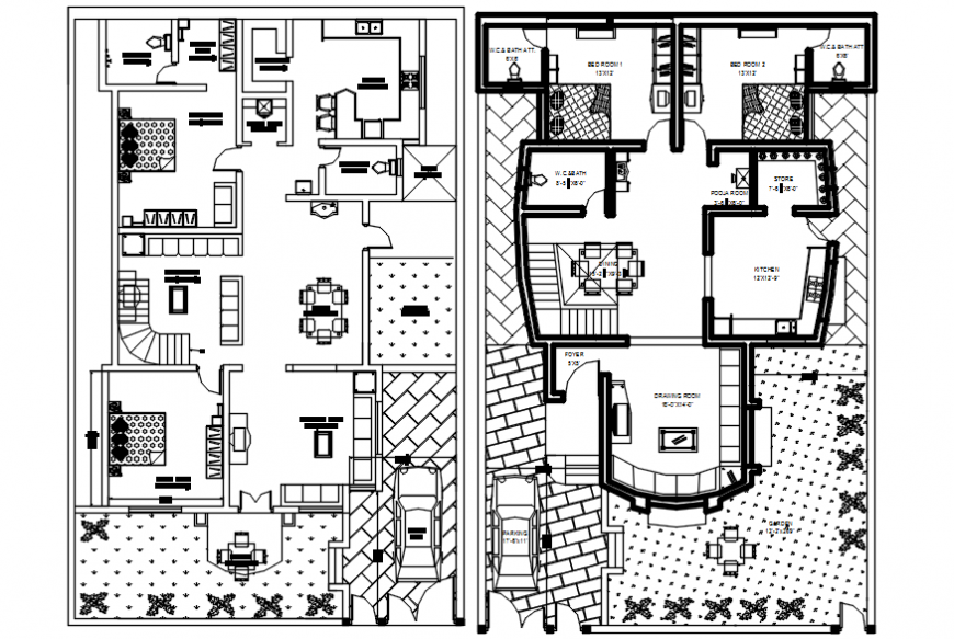 Layout floor plan of house CAD drawings autocad software file