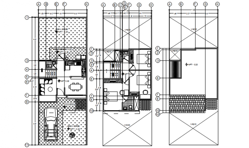 Layout house plan 2d view autocad software file