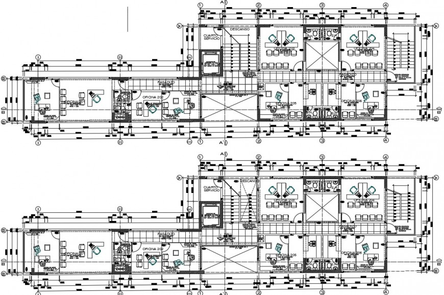 layout plan of a big and modern office