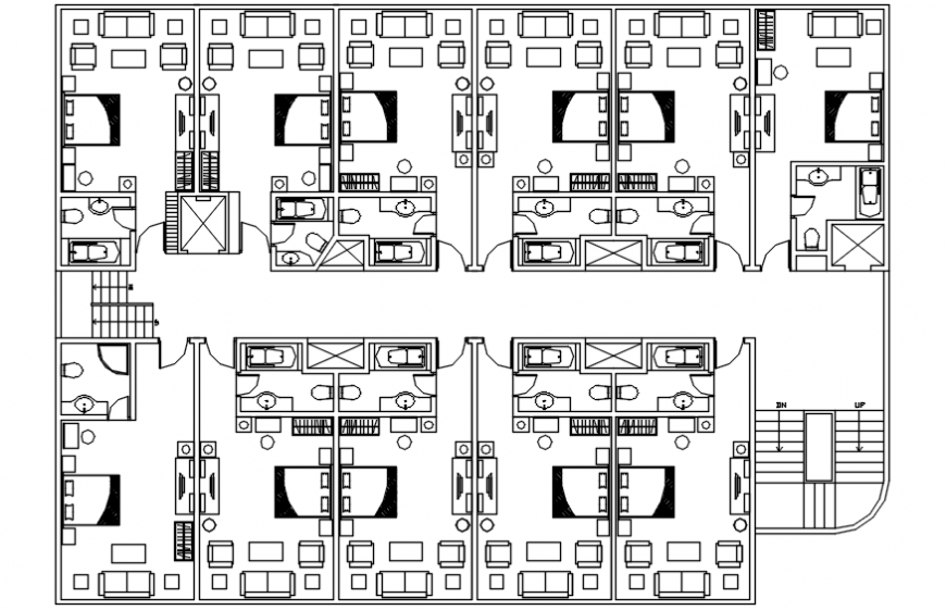 layout plan of a hotel
