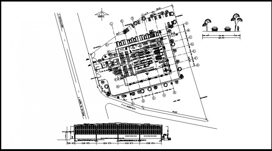 layout plan of a hotel and section