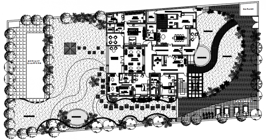 layout plan of a hotel detailing