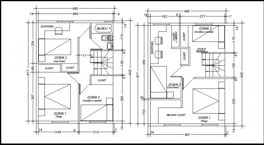 layout plan of a office 2d