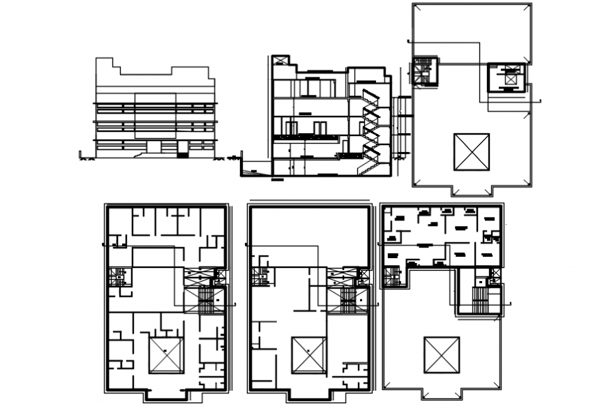 layout plan of a office 2d details file