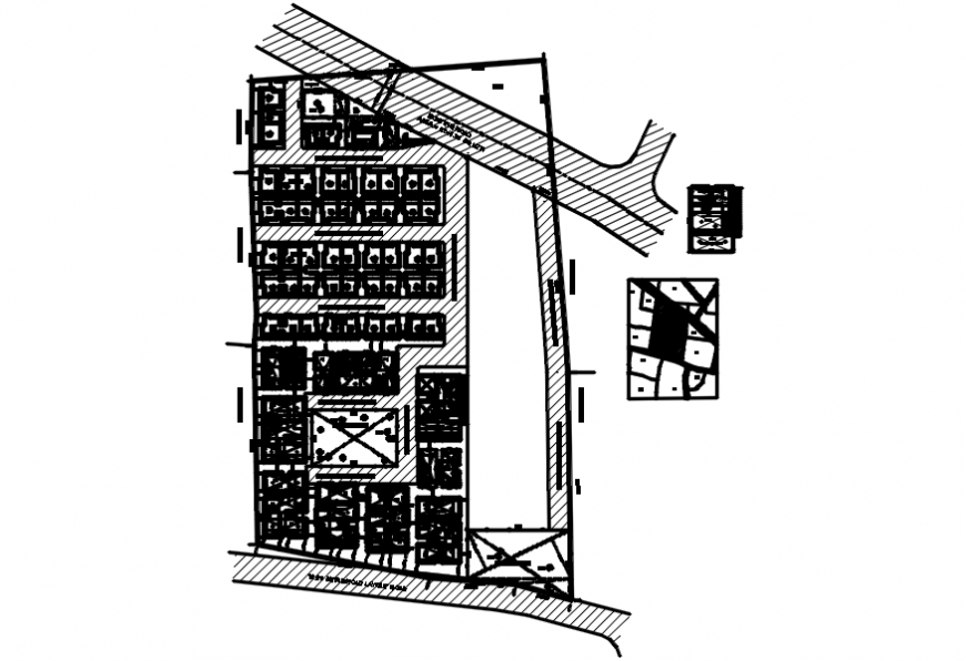 Layout plan of a office model