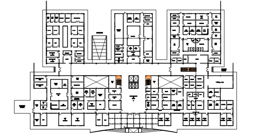 layout plan of a site of an apartment