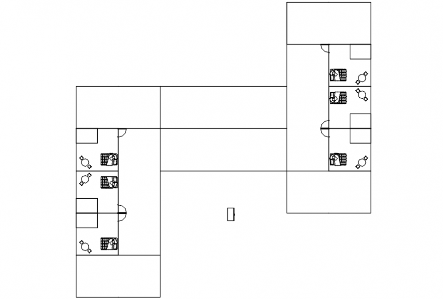 layout plan of hostel project autocad file