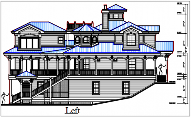 left elevation dwg file
