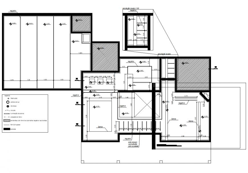 Leveling housing plan autocad file