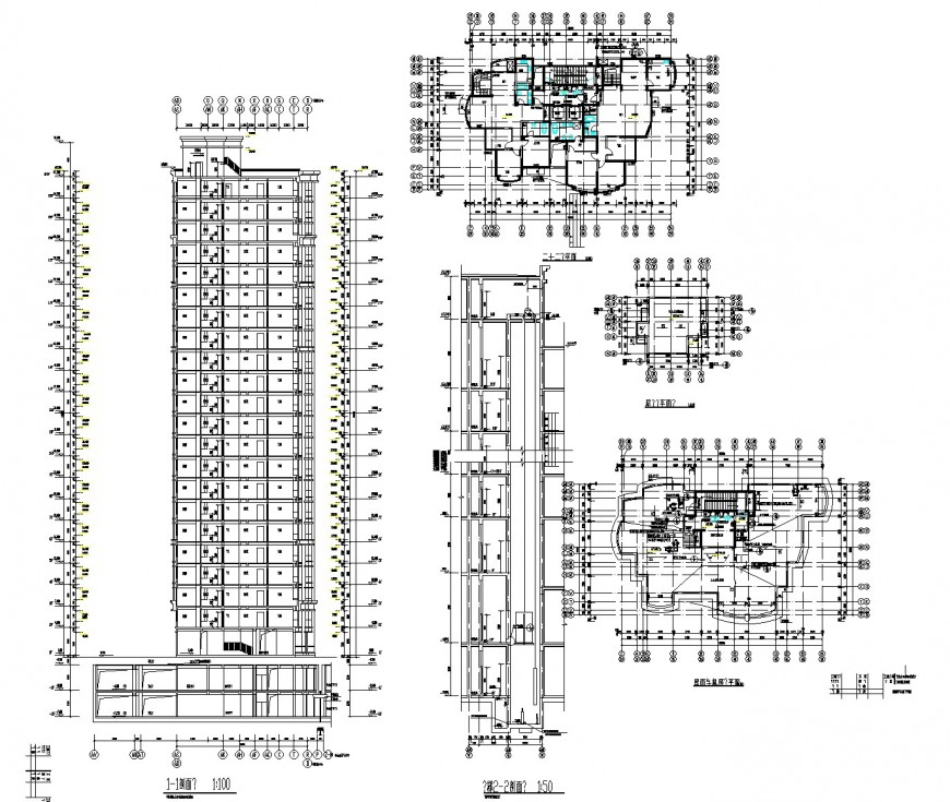 Lift elevation and office plan dwg file