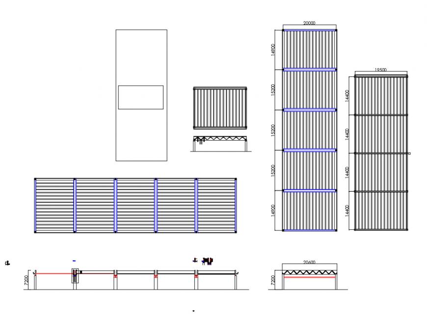 Lift elevators auto-cad details dwg file