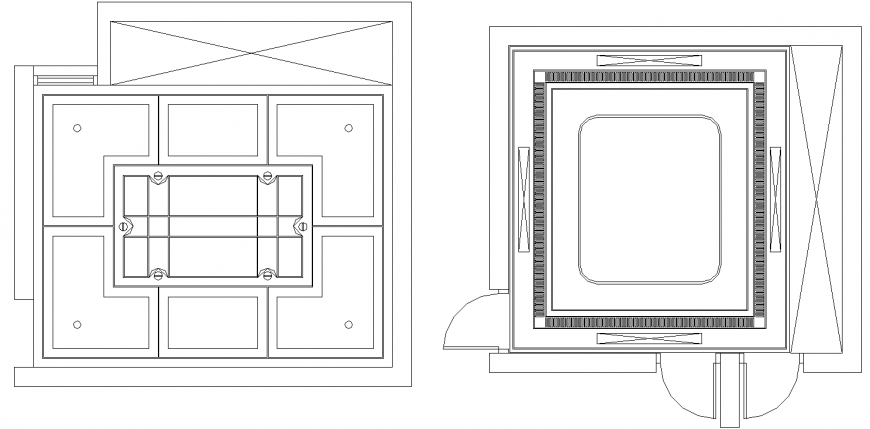 Lift working drawing in dwg file.