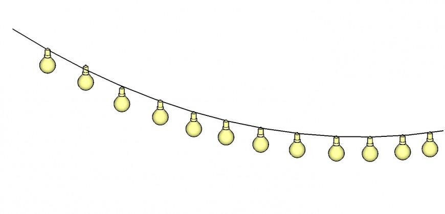 Light bulb 3d drawing in skp file.