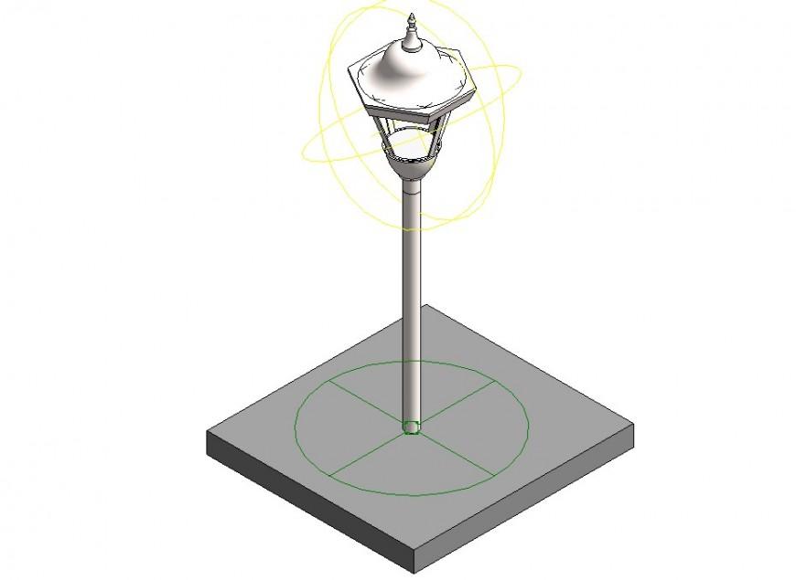 Light lamp pole detail 3d model layout 3d max file