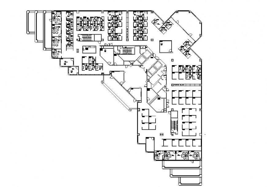 Line commercial building plan autocad file