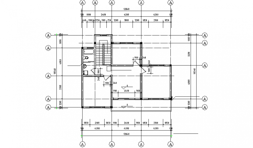 Line house planning dwg file