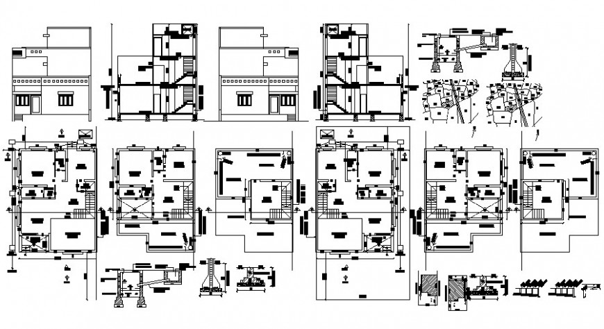 Living Apartment design drawing in autocad software