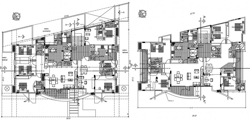Living apartment drawings plan 2d view autocad software file