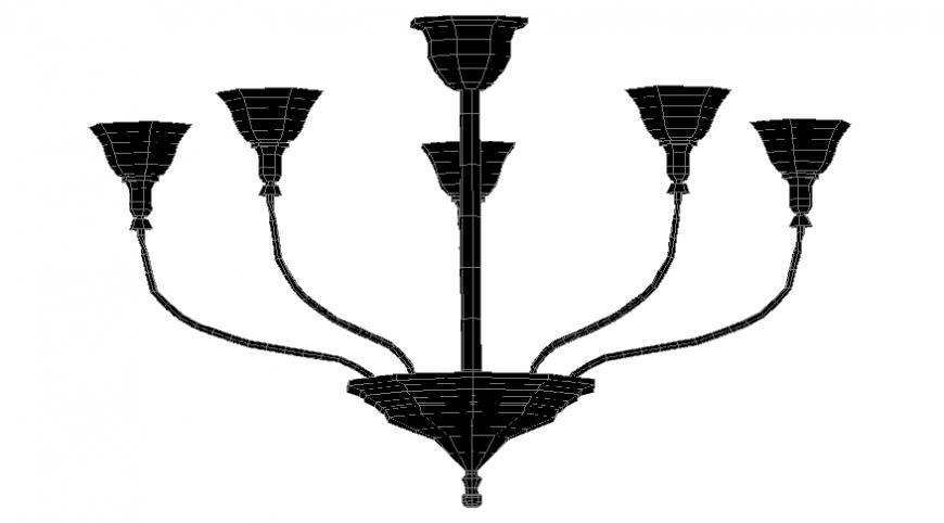 Living room chandeliers Cad 3D model dwg file