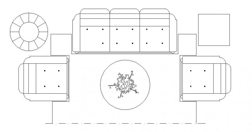 Living room furniture detail
