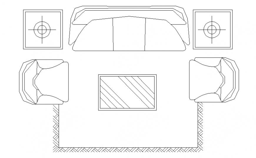 Living room sofa ideas architect design 2 d plan layout file