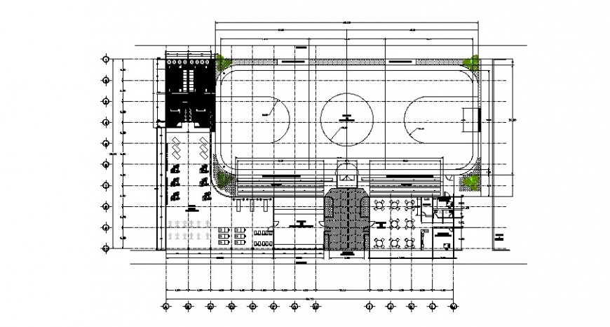 Local city restaurant architecture layout plan cad drawing details dwg file