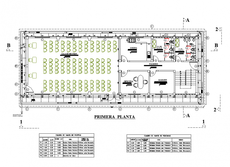 Local communal first floor plan layout file