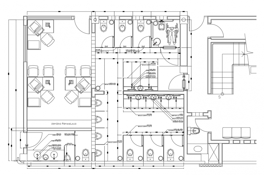 Local corporate office distribution layout plan cad drawing details dwg file