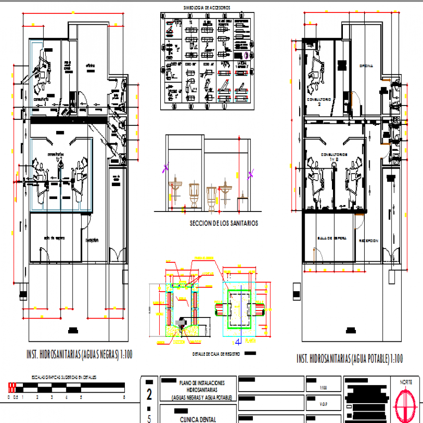Local dental clinic auto-cad details dwg file