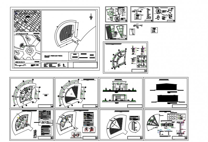 Local plan detail of store building block 2d view layout file in autocad format