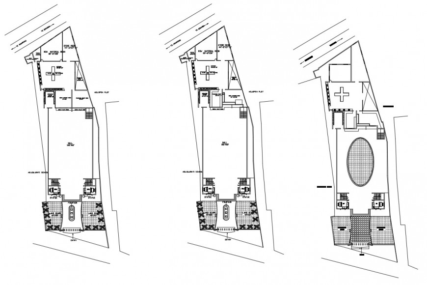 Local restaurant floor distribution plan cad drawing details dwg file