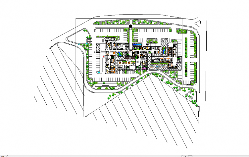 Location commercial building planning detail dwg file