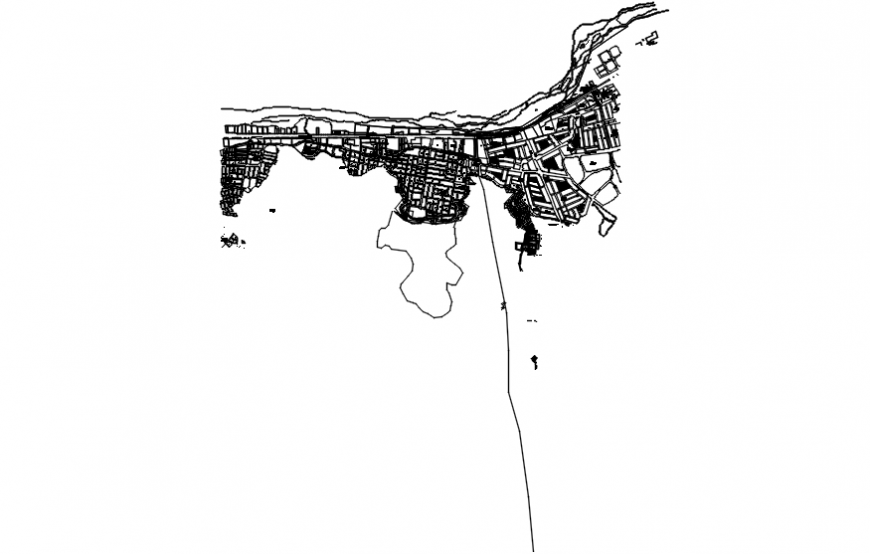 Location map and town planning details of Phila city dwg file