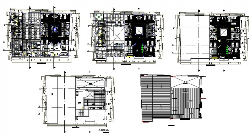 Lodging floor plan in auto cad software