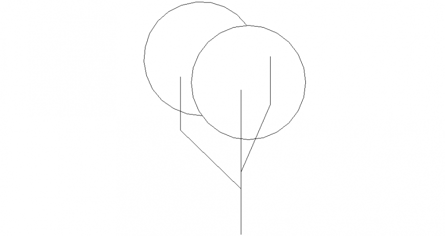 Logo of tree design view dwg file