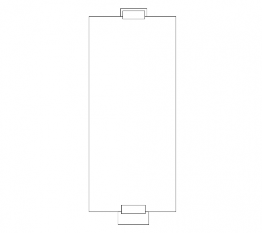 Long conference office table cad block design dwg file
