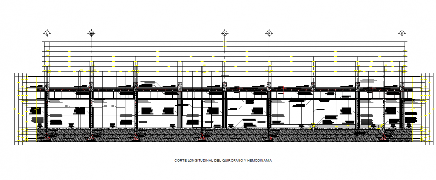Longitudinal section of the operating room Elevation detail