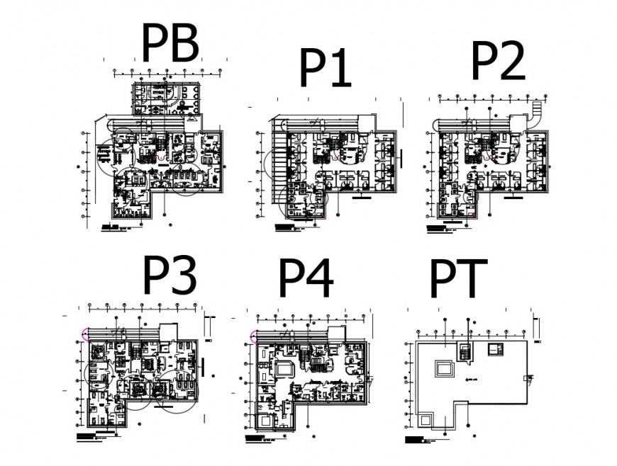 Low risk maternal hospital floors layout plan details with sanitary installation dwg file