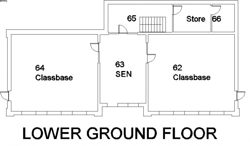 Lower ground floor school detail