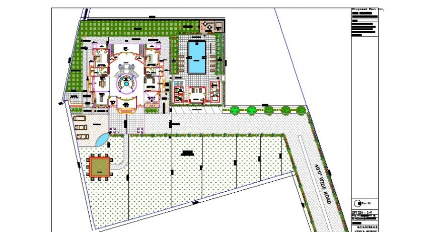 Luxuries bungalow distribution layout plan cad drawing details dwg file