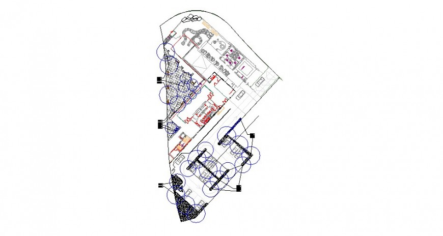 Luxuries club house layout plan structure cad drawing details dwg file