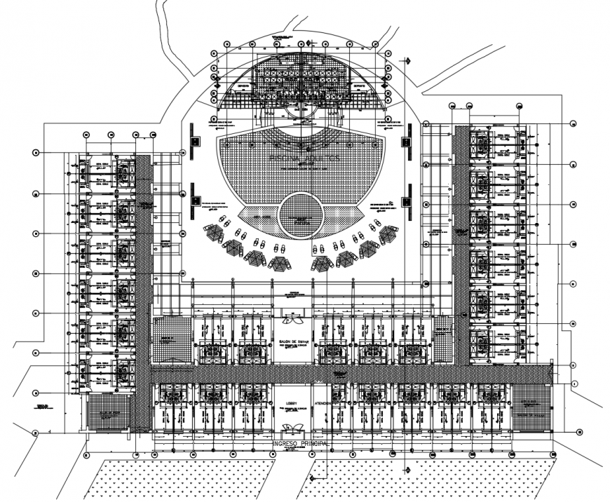 Luxuries hotel general layout plan cad drawing details dwg file